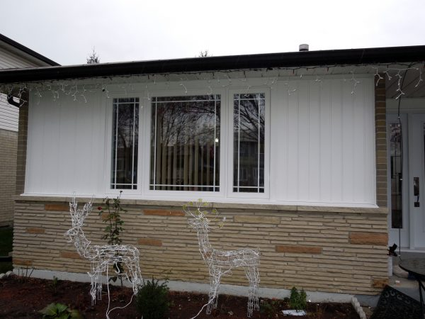 New bay window and siding