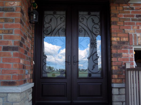 Brand new fibreglass entry door