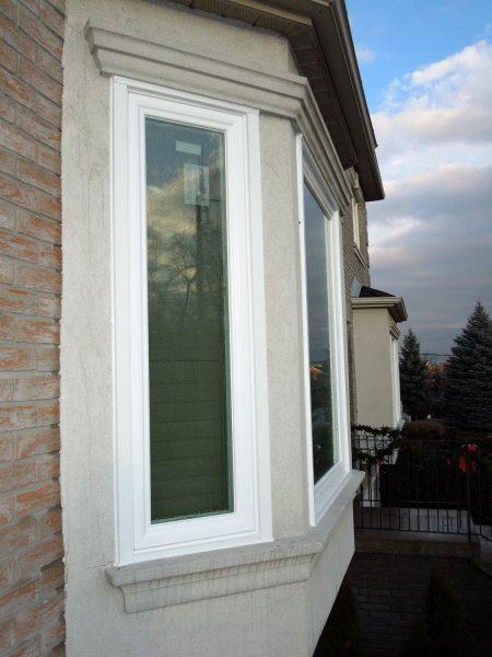 Side view of window