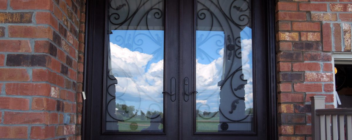 Brand new fibreglass entry door